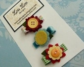 Set of 3 Mini Pinch Clips by Lou Lou Designs
