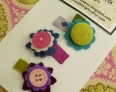 Set of Two Designer Mini Clips by Lou Lou Designs