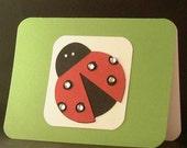 Green Ladybug -- notecard