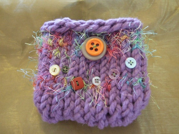 Purple and  Buttons  Mini bag