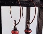 Red Pomegranate Earrings
