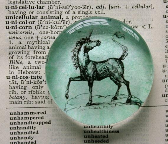 Unicorn Magnet - Jumbo Glass Magnet