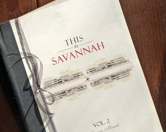 THIS Is SAVANNAH, Vol. 2 Jones Street (Handmade Book of Architectural Streetscape Drawings and Map) Savannah Wedding Graduation Realtor Gift