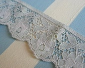 Vintage Gray Flower Lace - FOR ROCKSTARHM -