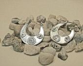 Large (1 inch diameter) Sterling hoop earrings (not wire only)
