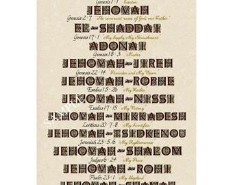 Twelve Hebrew Names of God