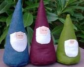 PDF SEWING PATTERN - Friendly Garden Gnomes - waldorf woodland forest stuffed plushie wool felt embroidery dwarf santa dwarves pincushion