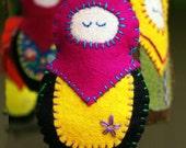 PDF SEWING PATTERN - Matryosha Ornament Tutorial - matryoshka doll, babushka doll diy, doll ornament, embroidery, nesting doll, felt doll