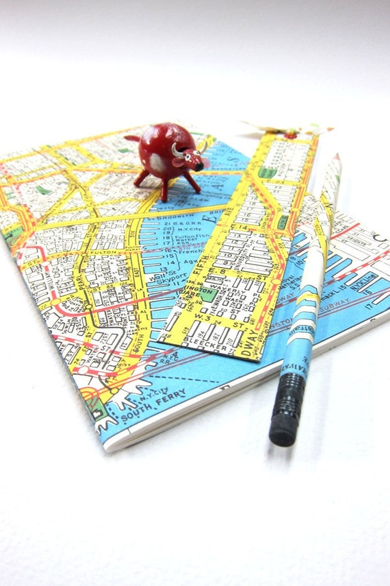 Map of New York Notebook Set with Pencil and Bookmark