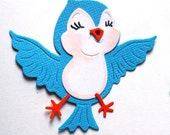 5 x Cute Bluebird  Die Cut
