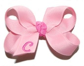 Monogrammed Baby Bow - Infant Bow - Infant Headband Bow - Baby Headband Bow - Toddler Bow - Newborn Bow - Personalized Bow