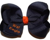 Embroidered Auburn War Eagle Bow