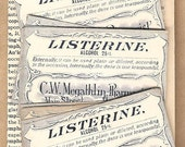 Antique Pharmacy Apothecary Labels - LISTERINE