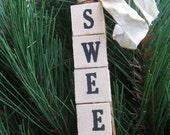 SWEET Vintage Letter Tile