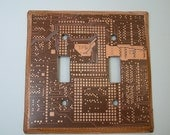 RECYCLED CIRCUIT BOARD Light Switch Plate Geekery Double ls15