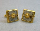 Recycled Silver Brass CIRCUIT BOARD Cuff Links Picasso STEAMPUNK