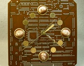 RECYCLED CIRCUIT BOARD Milk Chocolate Geek Wall Clock