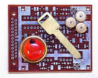 RECYCLED CIRCUIT Board Geekery MAGNET Key to your Heart