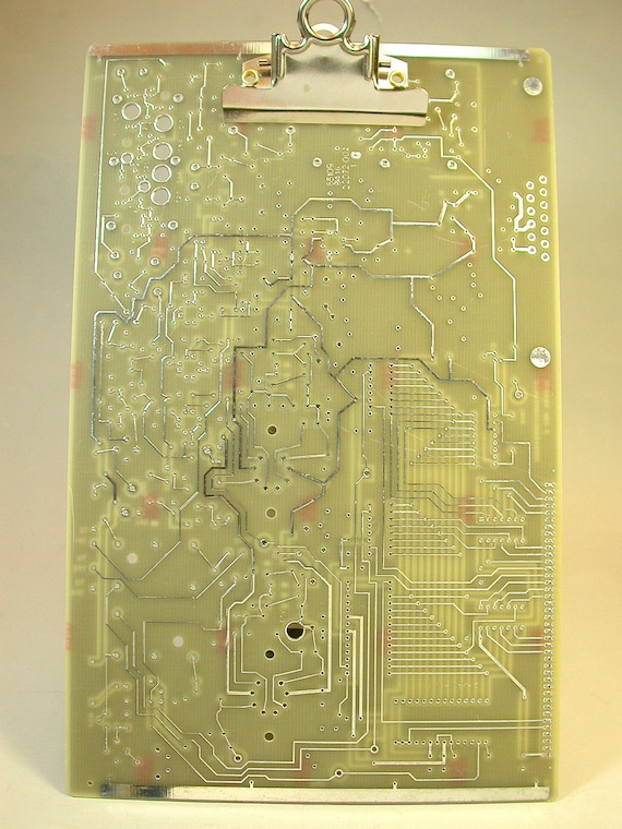 Recycled Circuit Board Clipboard Taupe Silver Geekery MC-7
