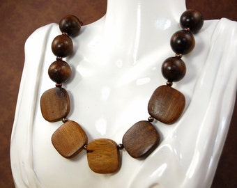 Wooden Necklace  N-432