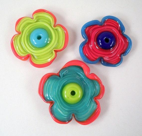 Flower Power - Lampwork Flower Beads