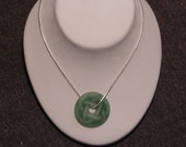 Engraved Aventurine- Celtic Knot Necklace