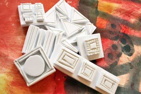 Hand Carved Stamps-Geometric Package