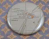 Hawaii Magnet, Vintage 1920s Atlas