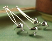 RAIN CUPS - Sterling Silver or Oxidized Sterling Earrings