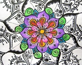 Mandala: Original Art Drawing - Center of Youth