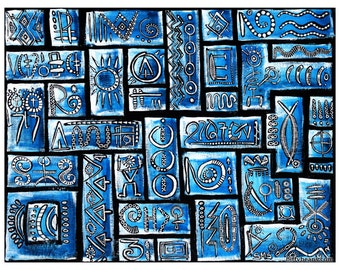 SALE Learning a New Language: Limited Edition Giclee Print 2 of 150