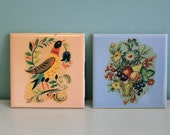 Pair of Vintage Ceramic Tiles