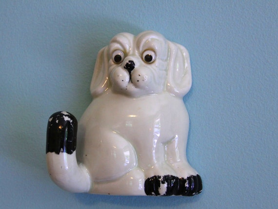 Vintage Wall Hook - Googly Eyed  Dog Decor