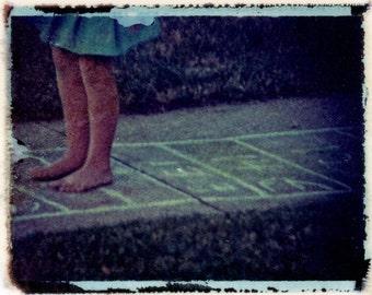 Hopscotch 2 Polaroid transfer photograph