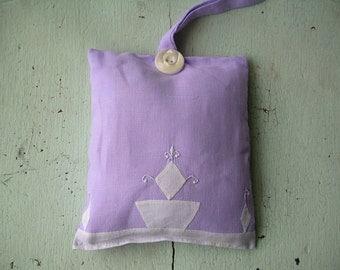 Lavender Sachet Vintage Linens
