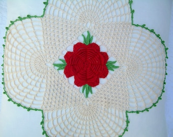 Doily Pillow Sham - 18""