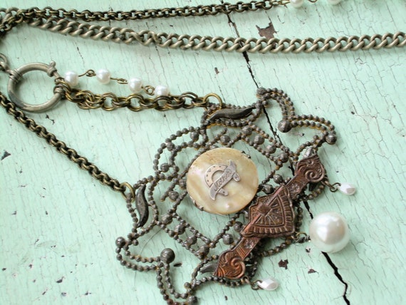 Mother Necklace - Repurposed Vintage