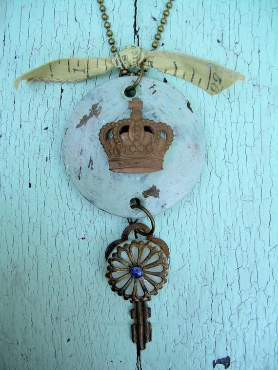 Repurposed Vintage Necklace - French Blue