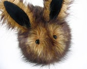 Stuffed Animal Stuffed Bunny Cute Plush Toy Bunny Kawaii Plushie Rusty the Brown Bunny Rabbit Cuddly Snuggly Faux Fur Toy Large 6x10 Inches
