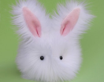 Stuffed Bunny Stuffed Animal Cute Plush Toy Bunny Kawaii Plushie Cottonball the White Cuddly Snuggly Faux Fur Bunny Rabbit Medium 5x8 Inches
