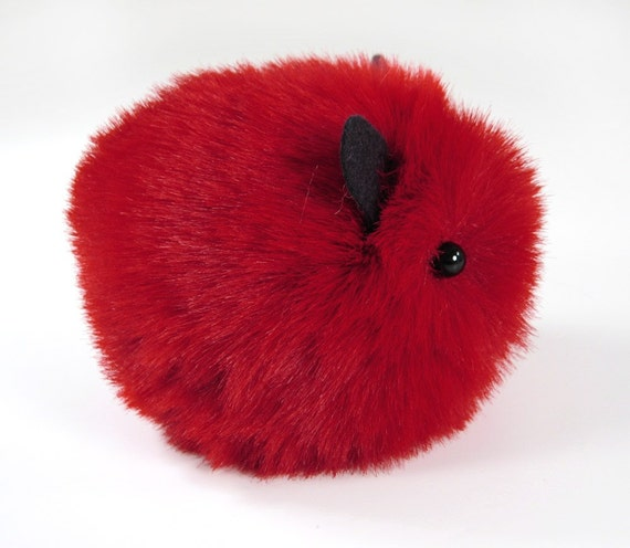 Cherry the Guinea Pig Stuffed Animal Plush Toy - 4x5 Inches Small Size