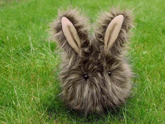 Rufus the Brown Bunny Stuffed Animal Plush Toy Rabbit -  5x8 Inches Medium Size
