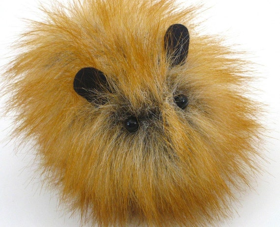 Amber Faux Fur Guinea Pig Plushie Baby Size