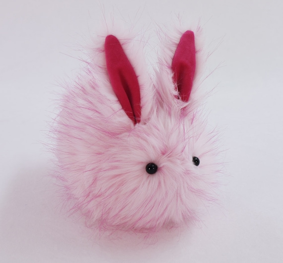 Easter Gift Stuffed Animal Cute Plush Toy Bunny Kawaii Plushie Candy the Pink Fluffy Snuggly Cuddly Bunny Rabbit Toy Large 6x10 Inches