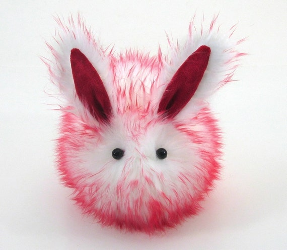 Cute Candy the Rabbit Faux Fur Plushie Momma Size