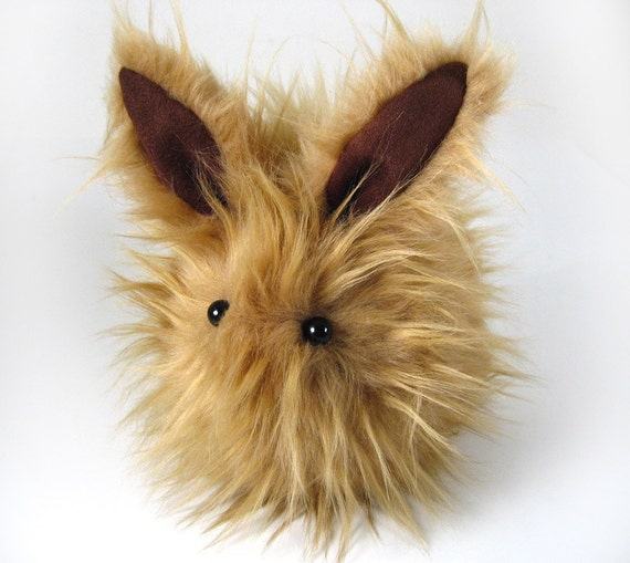 Goldie Stuffed Rabbit Faux Fur Plushie Momma Size