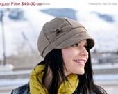 WINTER SALE Mamie Hat- brown wool- size Medium