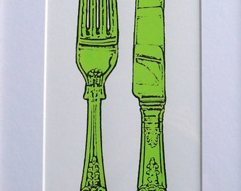 Framed Screen Print - Queens Cutlery - Limited Edition