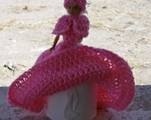 hand crocheted Southern Bell toilet paper holder apx 8 inches tall name your color