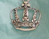 """royal crown apz 1 inch square with sterling silver 18"""" chain necklace"""